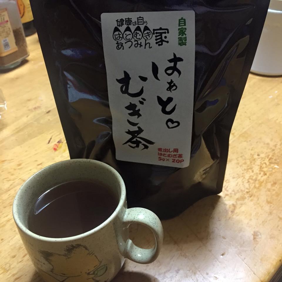 はぁとむぎ茶とマグカップ